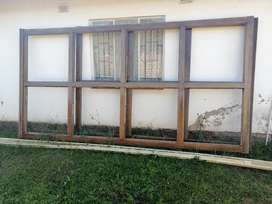 Solid Meranti wooden bay Windows for sale