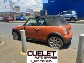 Mini Cooper S Convertible Now Stripping For Parts