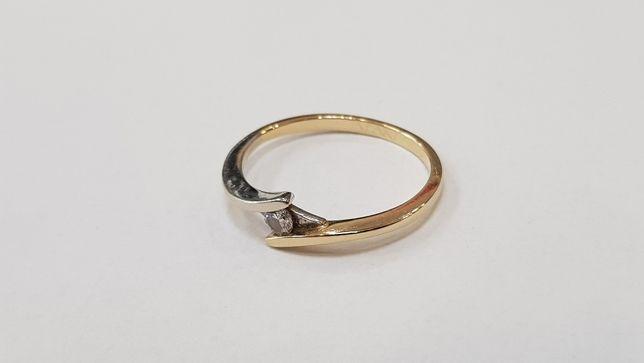 Apart! Przepiękny pierścionek + brylant 0.04 CT/ 585/ 1.39g/ R10 Gdynia - image 1