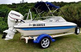RAVEN ELITE WITH 115 EVINRUDE E-TEC - SALTWATER EDITION - 94hrs