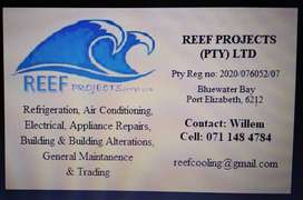 REEF PROJECTS (PTY) LTD  Refrigeration, Air Conditioning, Electrical,