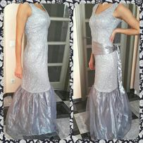 Вечернее платье сукня серебро рыбка новогодний вечер