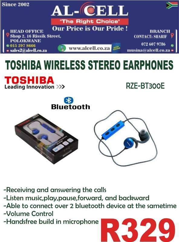 TOSHIBA WIRELESS STEREO EARPHONE RZE-BT300E 0
