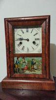 E PLURIBUS UNUM Американские Старинные Антикварные Часы с боем XIX век