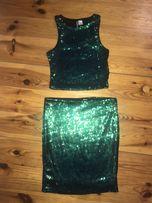 Sukienka, spódnica i top w cekiny H&M