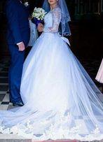 Suknia ślubna, tren i welon