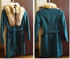 Пальто (осень-зима) с натуральным мехом лисы