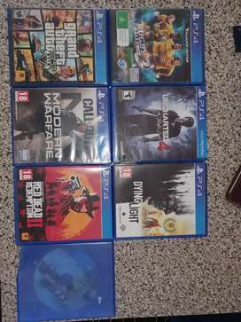 7 × playstation 4 games