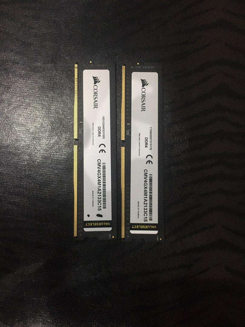 Corsair valueselect 2x4GB ram(DDR4)e 0