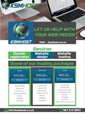 Domain registration website hosting and website design