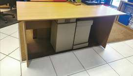 Desks with draw cabinets