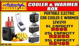 Portable electric vehicle cooler - warmer fridge box assorted sizes, 1