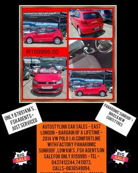 Autostyling Car Sales -  East London - Bargain - 2014 Polo Comfortine
