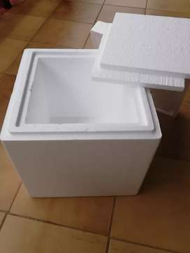 Cube shaped cooler box