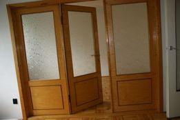 Piękne stylowe drzwi salonowe 3 częściowe