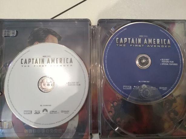 Film Capitan Ameryka blu rey 3D metalowe pudełko Poświętne - image 4