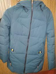 теплый женский зимний пуховик пальто куртка