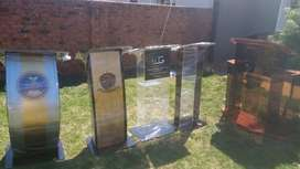 Perspex, Steel And Wooden Lectern Podium Pulpit