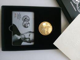 Монета iCoin Стив Джобс Apple Золото-серебро