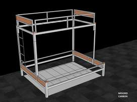 Double Bunk Bed by Molded Carbon Furniture