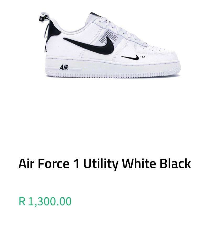 Air force 1 utility black and white 0