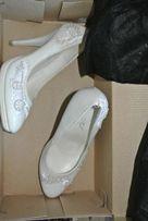 свадебные туфли. белые туфельки