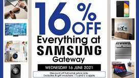 Everything 16% off retail prices
