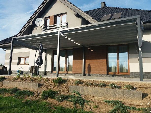 Nowoczesna pergola ogrodowa. Zadaszenie tarasu wykonane ze stali. Ocel Bochnia - image 7