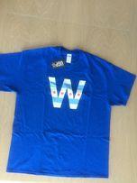Nowy T-shirt męski niebieski Chicago Flag XL
