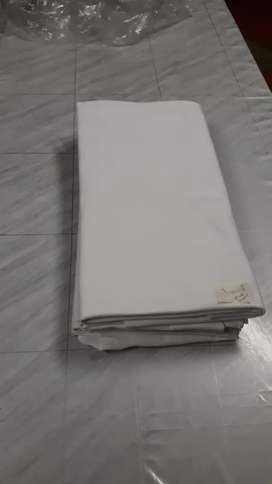 2Round table cloths white,  good condition.