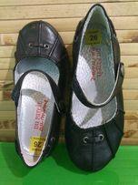 Новые туфли балетки мокасины кожа черные 26 размер