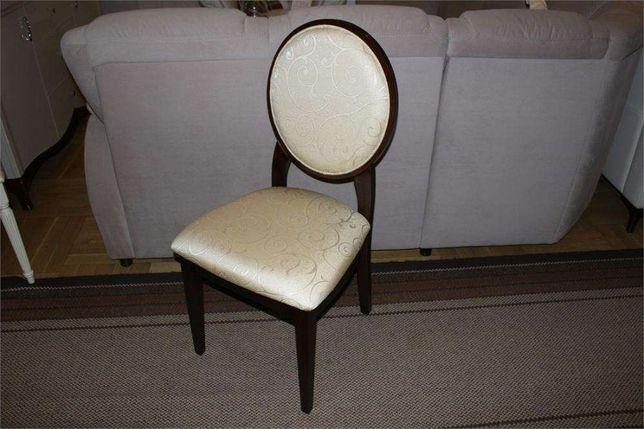 Krzesła krzesło klasyczne JFSC orzech ciemny tkanina ecrue żakard Góra Kalwaria - image 1
