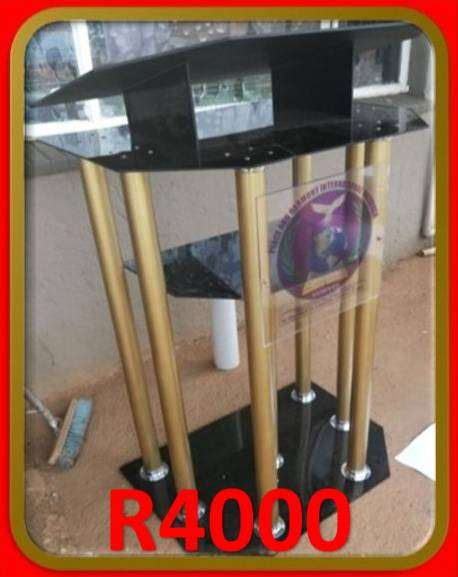 Customized Gold Legged Black Perspex Top And Base 0