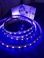 Светодиодная ультрафиолетовая лента 12V 14,4w/м