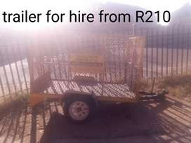 Trailer for hire and bakkie