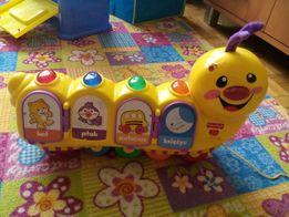 Zabawki telefon fisher price, domek z sorter, karuzela, gryzak