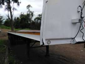 12m Double Axle Trailer with container locks