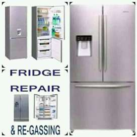 FRIDGE REPAIRS AND REGASING
