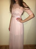 Pudrowa sukienka Grace Karin