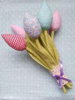 Тюльпаны текстильные из ткани