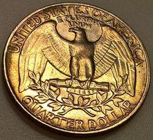QUARTER DOLLAR монета, брак 1985 P (U.S.A.)