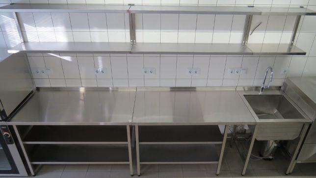 Стол из нержавеющей стали,с нержавейка,с мойкой,ванна,зонты,стеллажи