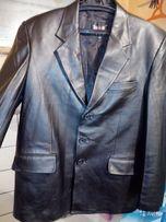 """Кожаный пиджак мужской черный фирма """"BODAN"""" Турция."""