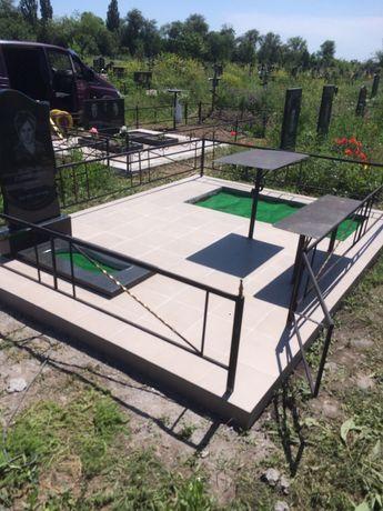 Облагораживание могилок,установка памятников,оградок, бетонировка