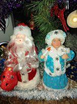 Дед Мороз и Снегурочка ручной работы.Hand made.