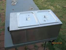 Anvil Stainless Steel 2 Compartment Bain Marie For Sale