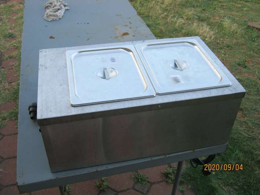 Anvil Stainless Steel 2 Compartment Bain Marie For Sale 0