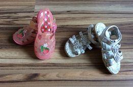 Sandałki dla dziewczynki 2 pary rozmiar 25