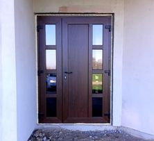 Вхідні двополі металопластикові двері. Дизайн дверей вибираєте Ви!
