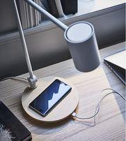 Настольная лампа с беспроводной зарядкой Икеа